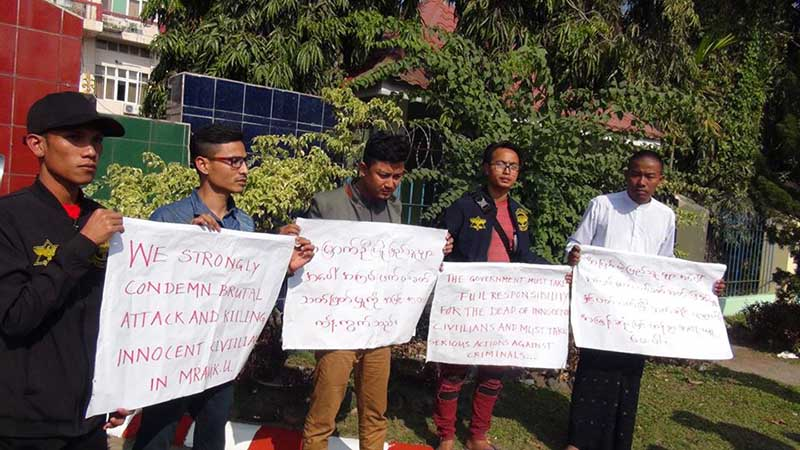 Eight Arakanese youth released from prison after Mrauk U protest