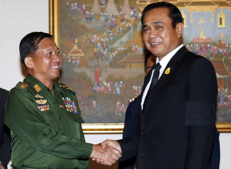 Ties forged in 'brotherhood': Min Aung Hlaing talks Burma-Thai relations