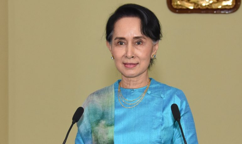 Marking two years in power, Suu Kyi urges nation to stay united amid 'challenges'