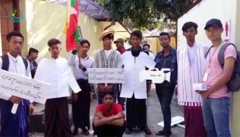 Students in Pathein slapped with fines over anti-war performance